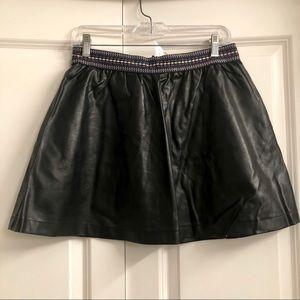 🖤Black Leather Skirt